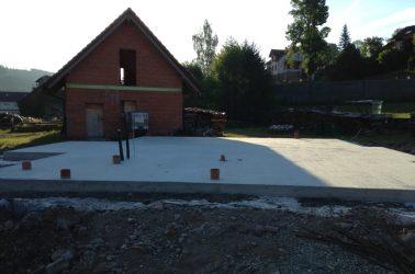 Bodenplatte mit Entwässerung für Fertighaus